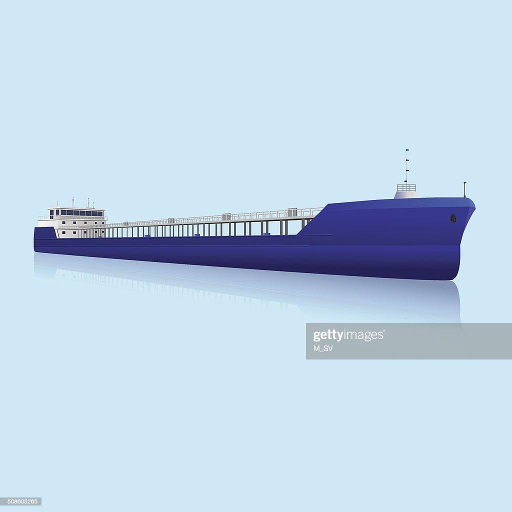 marine Petroleiro com reflexão : Arte vetorial