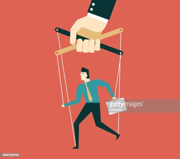 marionette - businessman - foreman stock illustrations, clip art, cartoons, & icons