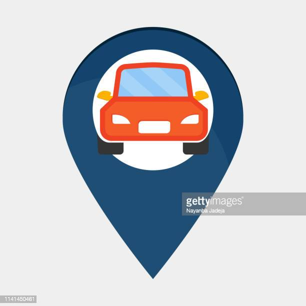 gps mark icon - parking sign stock illustrations