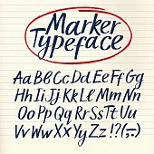 Marker hand drawn vector font