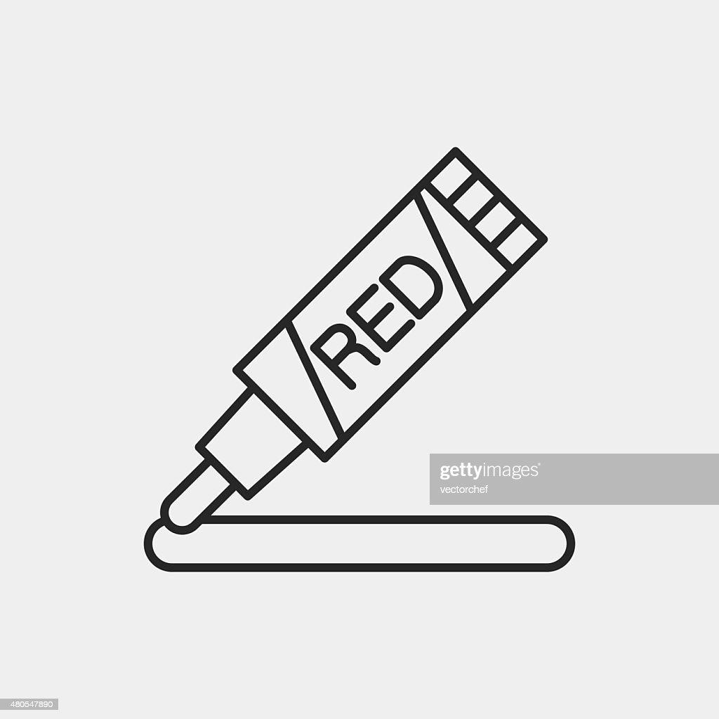 marker line icon : Vector Art