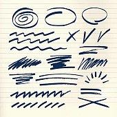 marker strokes set on paper