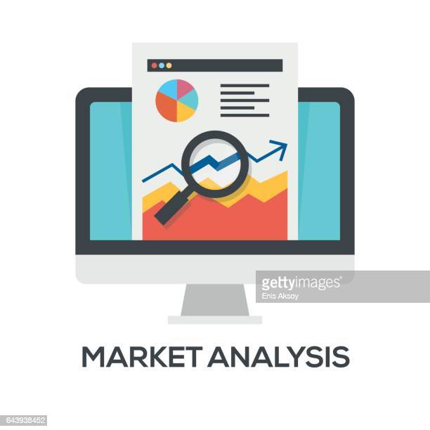 market analysis icon - stock certificate stock illustrations