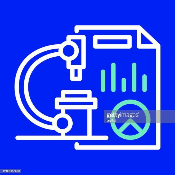 marktforschungslinie icon. bearbeitbarer strich. einfache gliederung saum-symbole. - fokusgruppe stock-grafiken, -clipart, -cartoons und -symbole