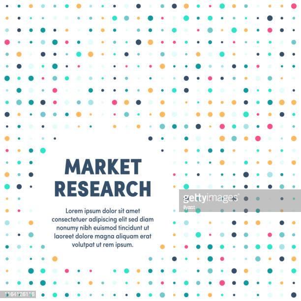 market research modern & artistic design template - education stock illustrations