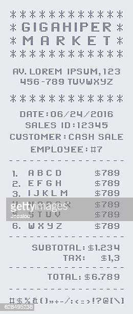 market sales receipt - addierrolle stock-grafiken, -clipart, -cartoons und -symbole