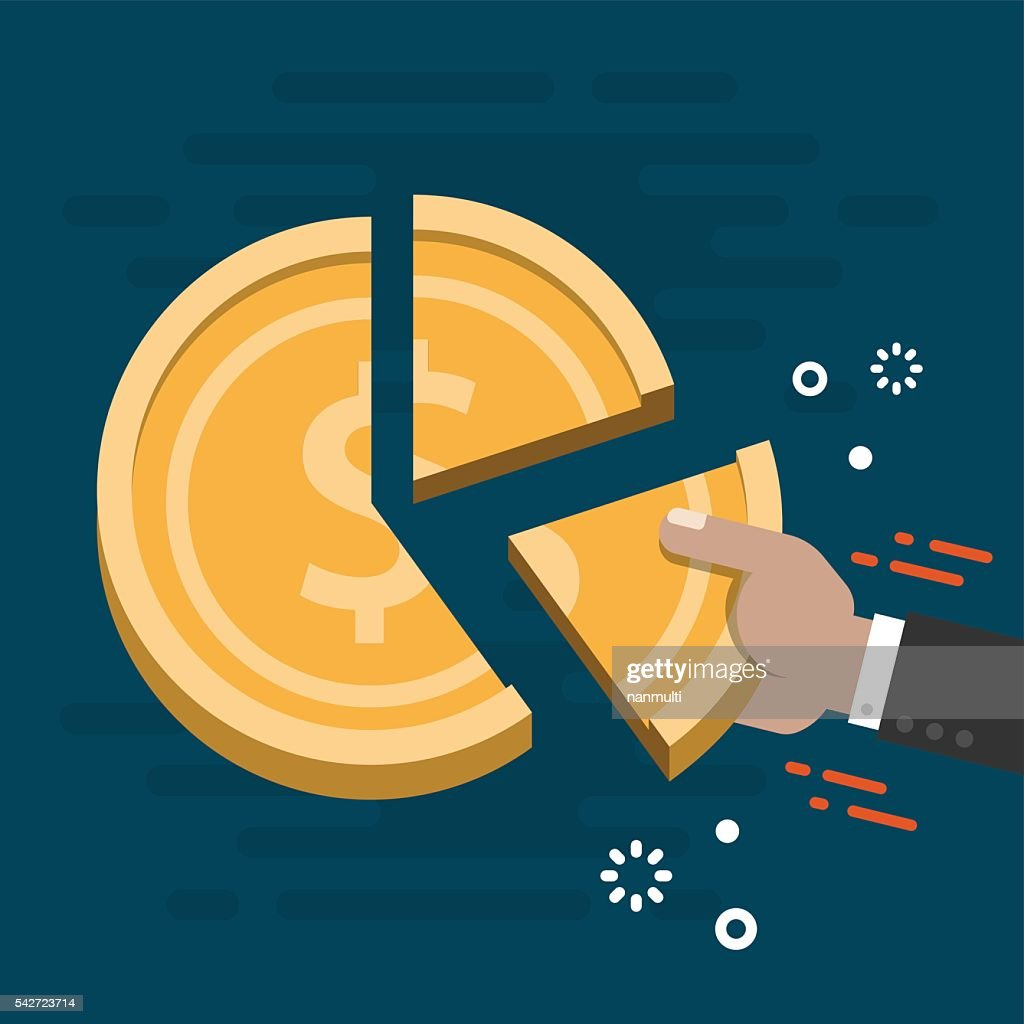 Market Share Business Concept Vector