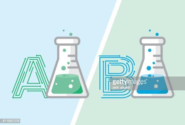 マーケティング、b テスト - アルファベットのb点のイラスト素材/クリップアート素材/マンガ素材/アイコン素材