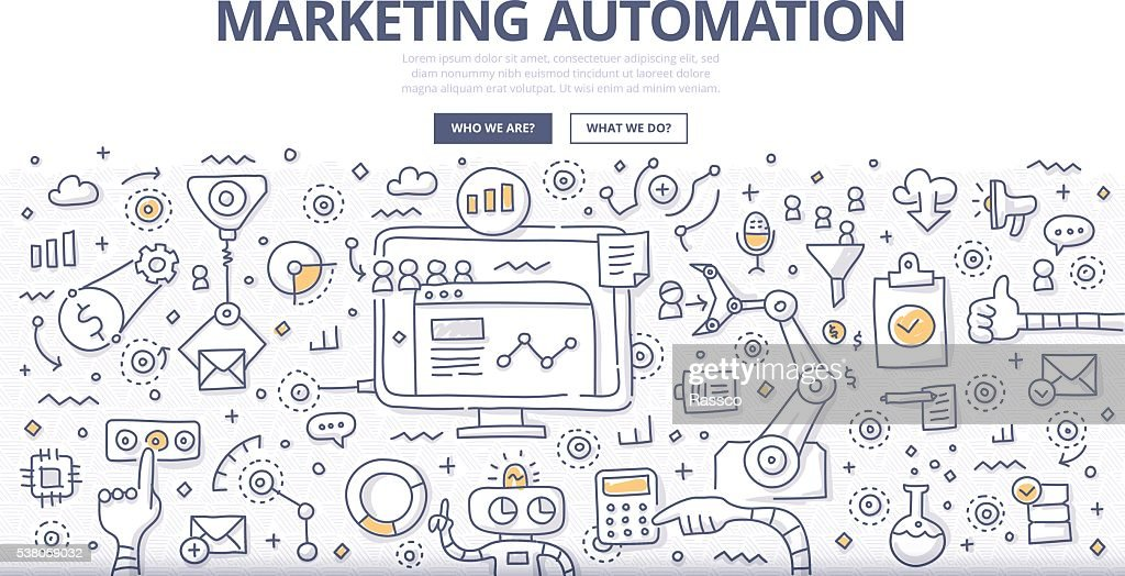 Marketing Automation Doodle Concept