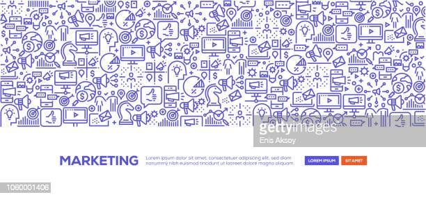 marketing banner - marketing stock illustrations