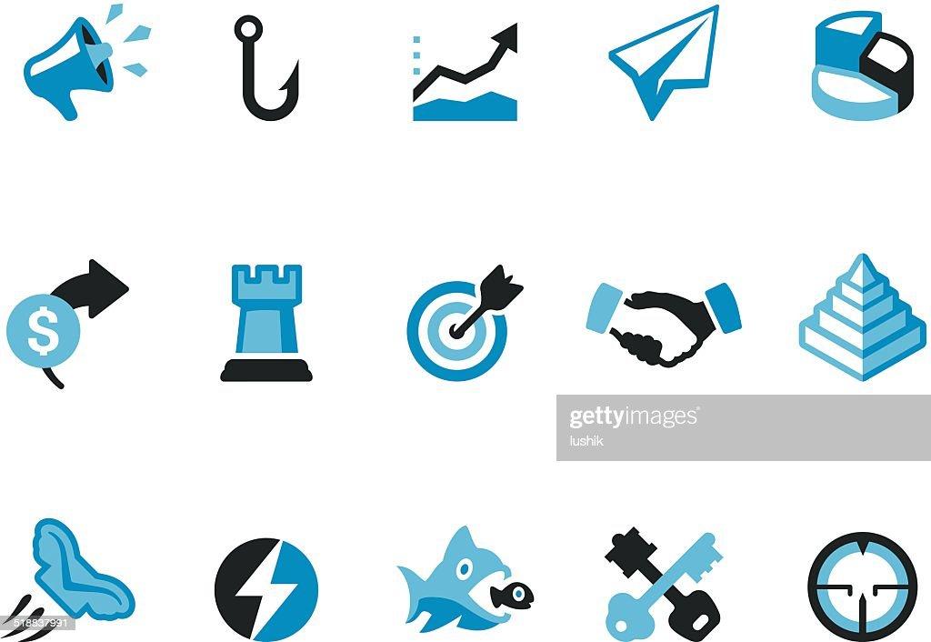 Marketing / Coolico icons : stock illustration