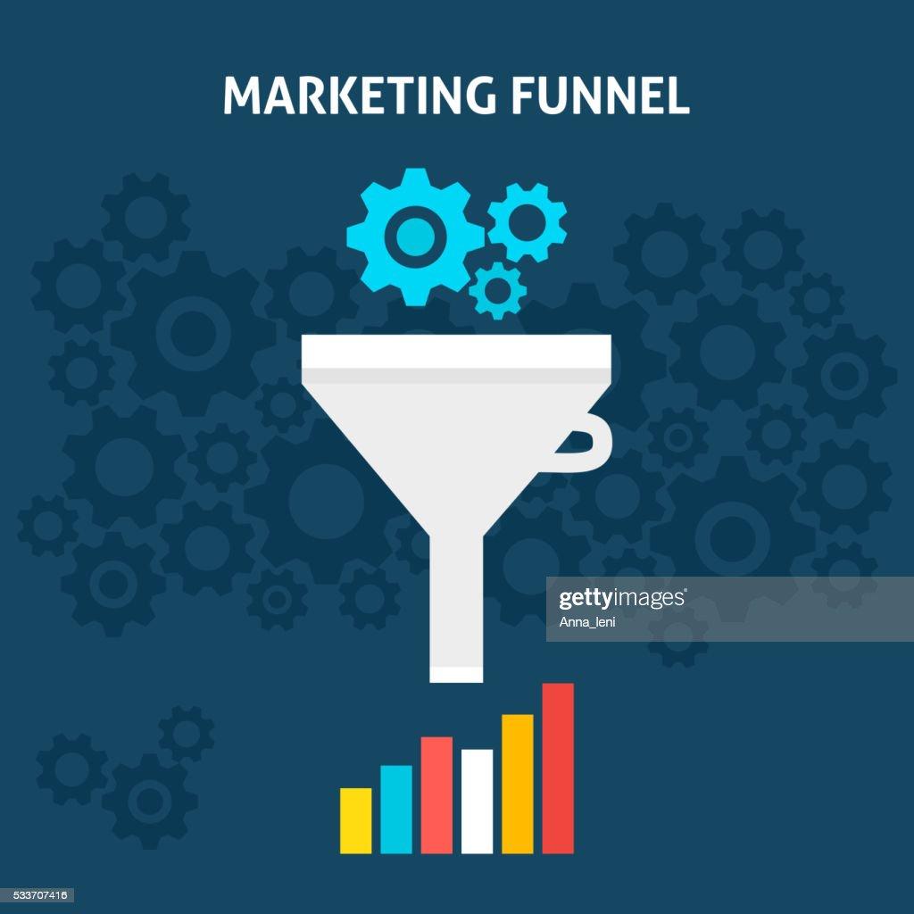 Marketing Funnel Flat Concept