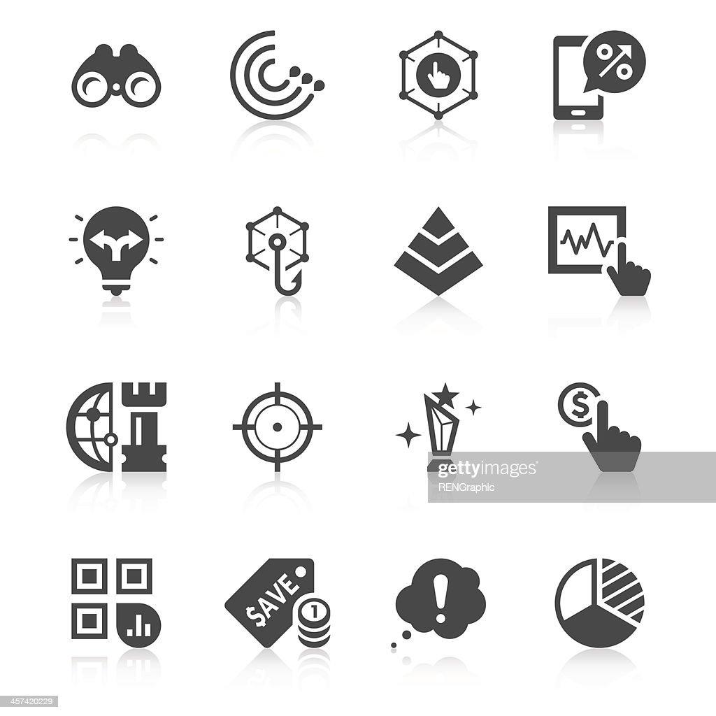 Marketing Icon Set | Unique Series : stock illustration