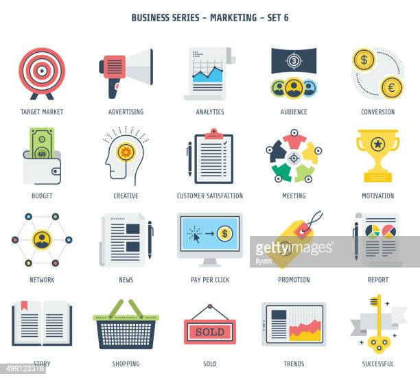 marketing icon set - buy single word stock illustrations, clip art, cartoons, & icons