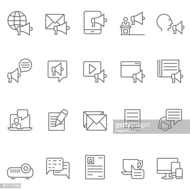 Marketing pictogramserie