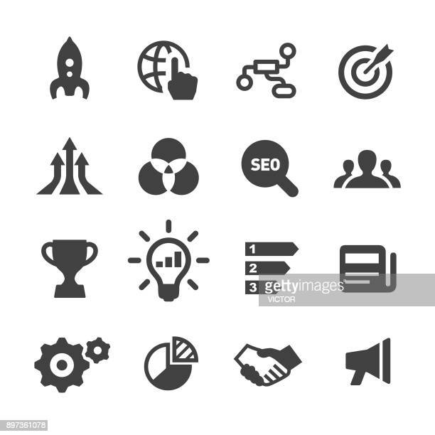 marketing icons - acme series - arranging stock illustrations