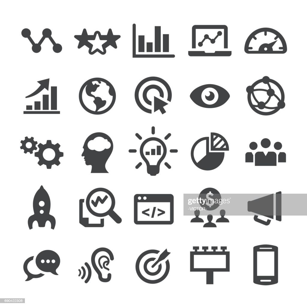 Marketing Icons - Smart Series : Stock Illustration