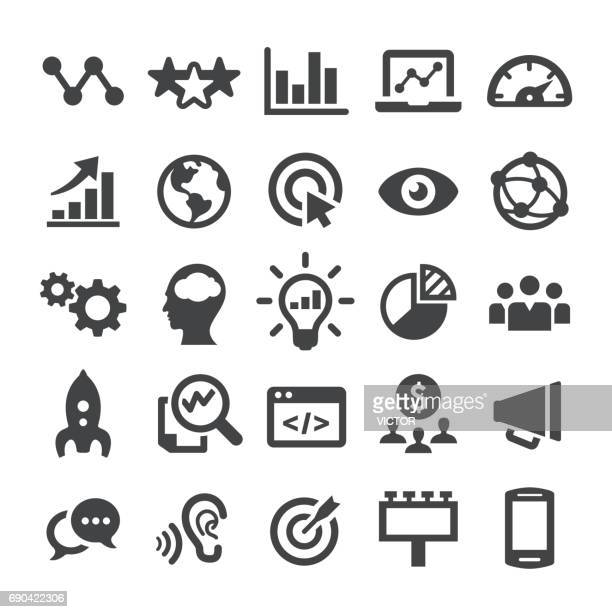 marketing icons - smart series - business strategy stock illustrations
