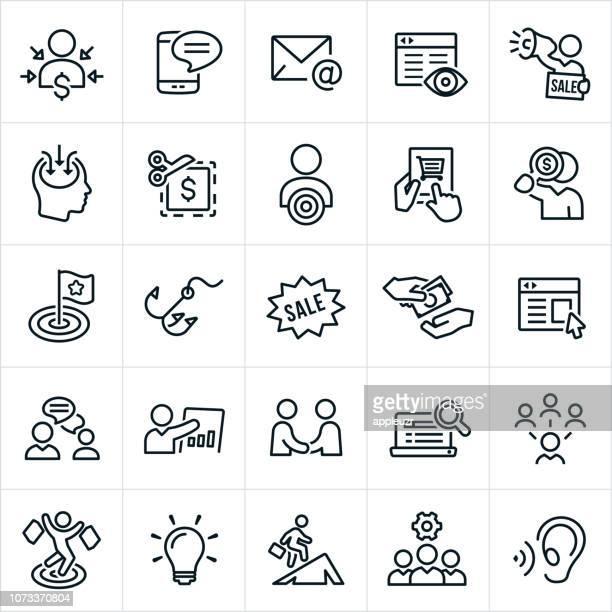 marketing icons - persuasion stock illustrations