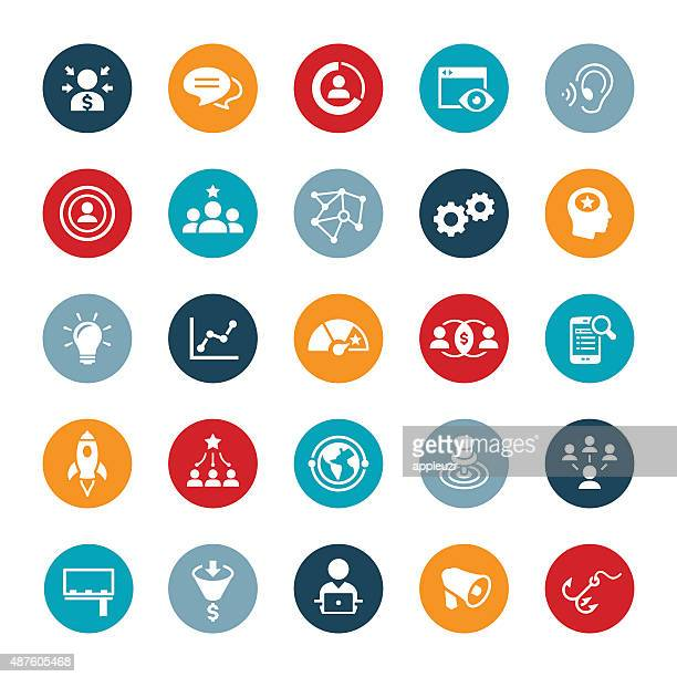 marketing icons - accuracy stock illustrations