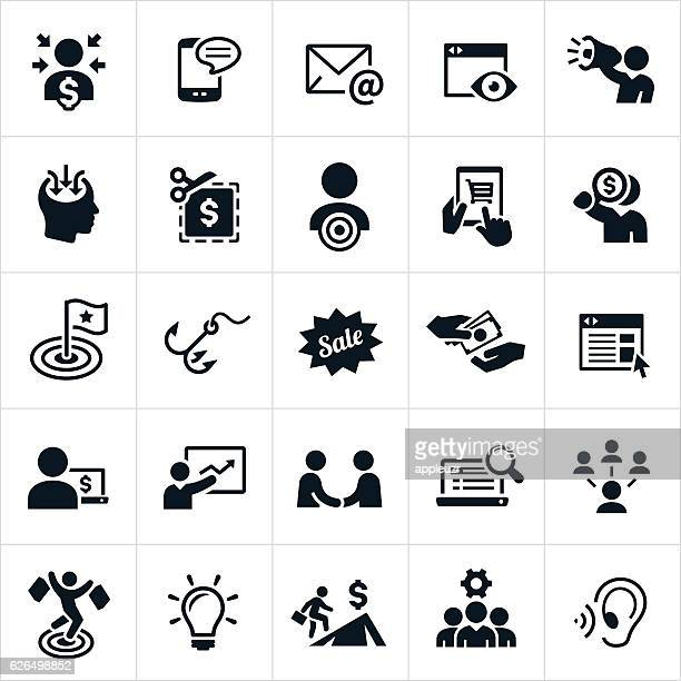marketing icons - online advertising stock illustrations, clip art, cartoons, & icons