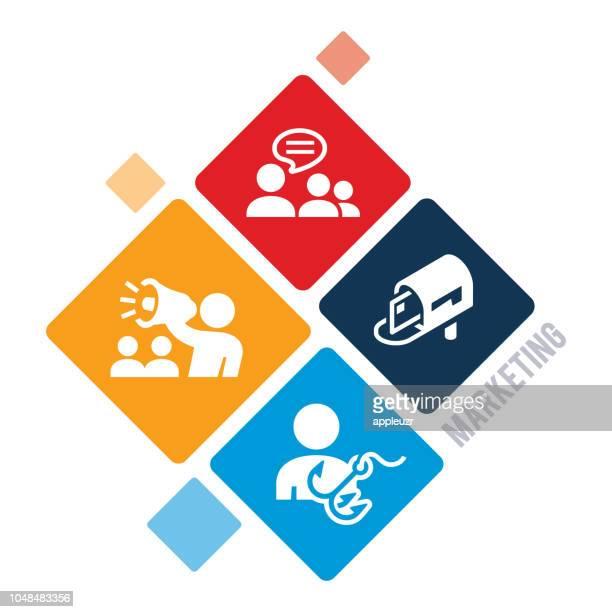 marketing illustration - junk mail stock illustrations