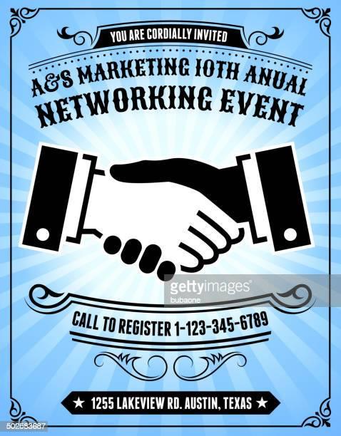 ilustrações, clipart, desenhos animados e ícones de azul de fundo de convite evento de marketing - registro livro