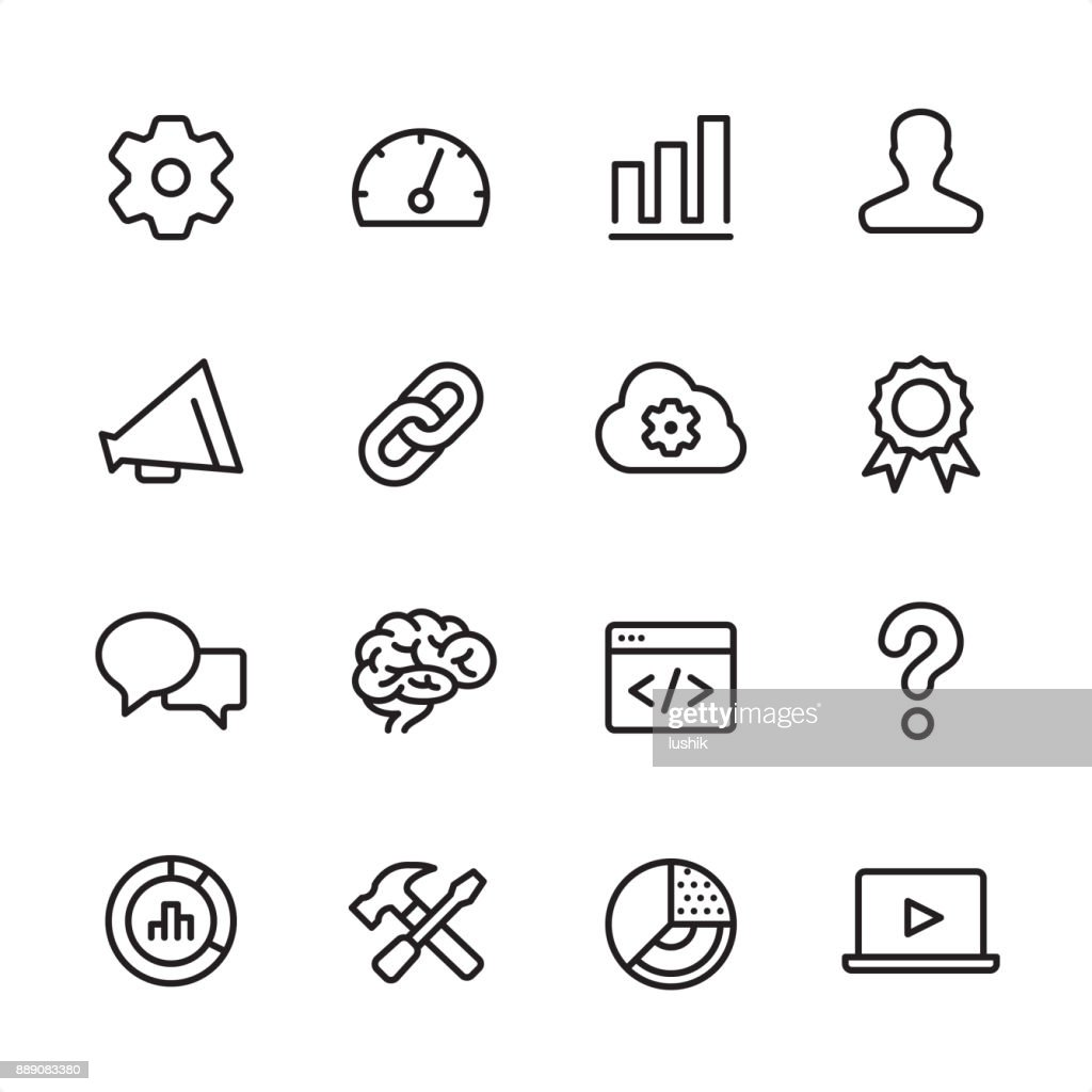 Marketing - outline icon set