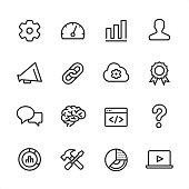 Marketing - outline icon set