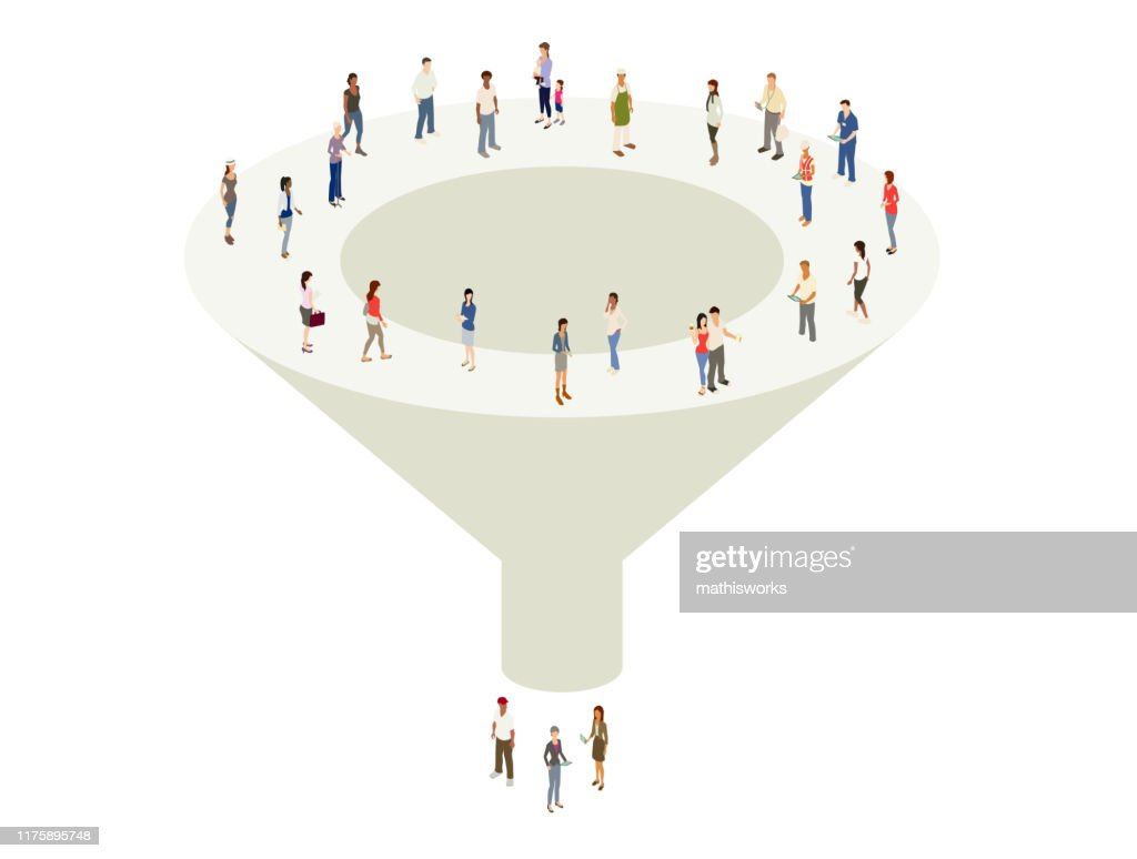 Marketing sales funnel : stock illustration