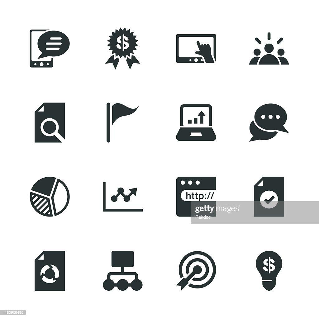 Marketing Silhouette Icons : stock illustration