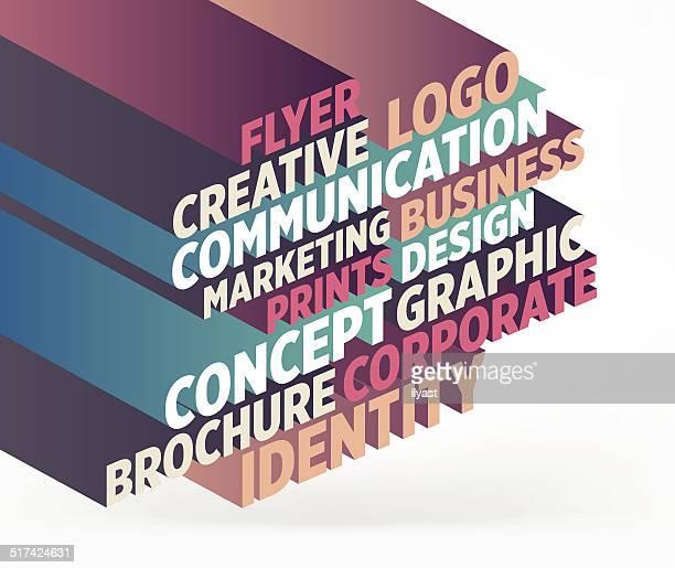 illustrazioni stock, clip art, cartoni animati e icone di tendenza di di marketing - identità