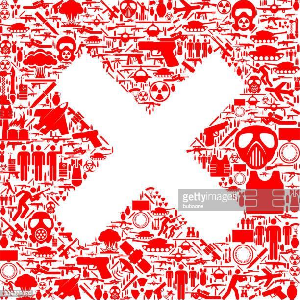 x 印を戦争とモダンウォー フェア ベクトル アイコン パターン - military attack点のイラスト素材/クリップアート素材/マンガ素材/アイコン素材