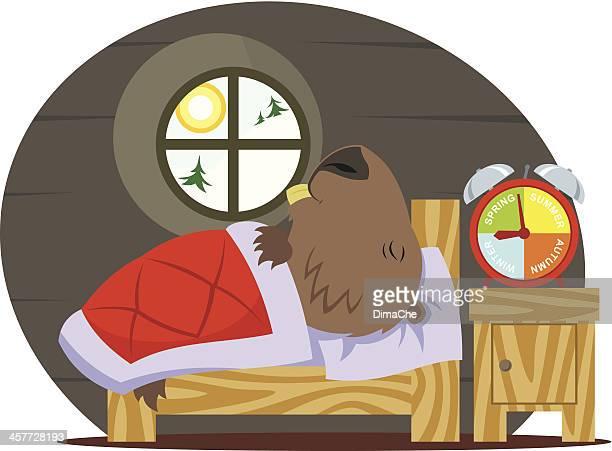 marmot ベッドルーム - 毛穴点のイラスト素材/クリップアート素材/マンガ素材/アイコン素材
