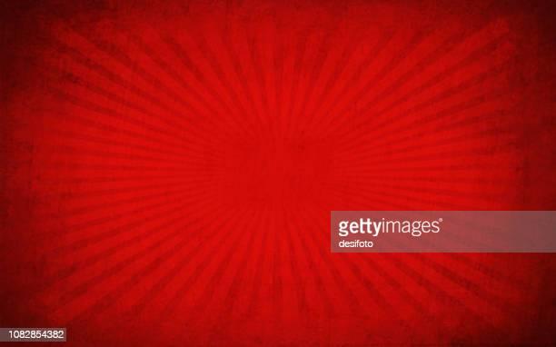 kastanienbraun rot und schwarz gefärbt sunburst über hell kastanienbraun, tiefrote rissige effekt wand textur vektor hintergrund-horizontal - unordentlich stock-grafiken, -clipart, -cartoons und -symbole