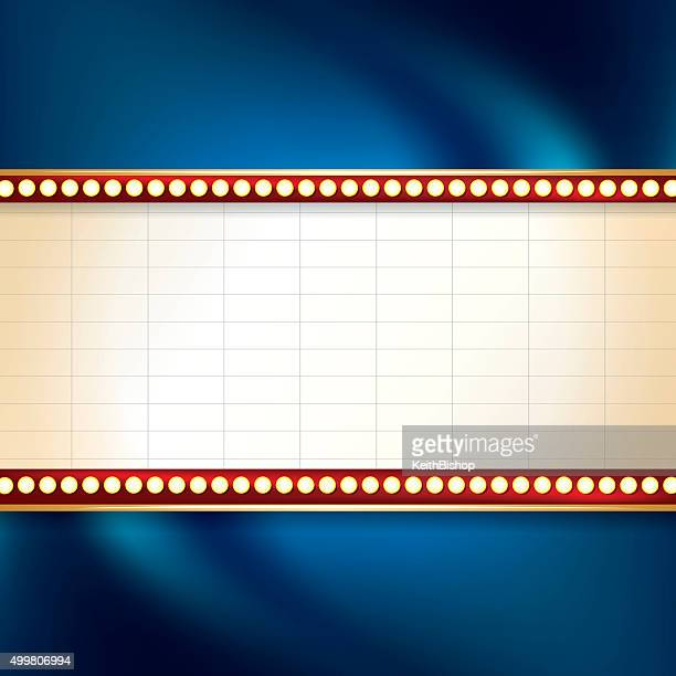 marquee background - movie theater stock illustrations