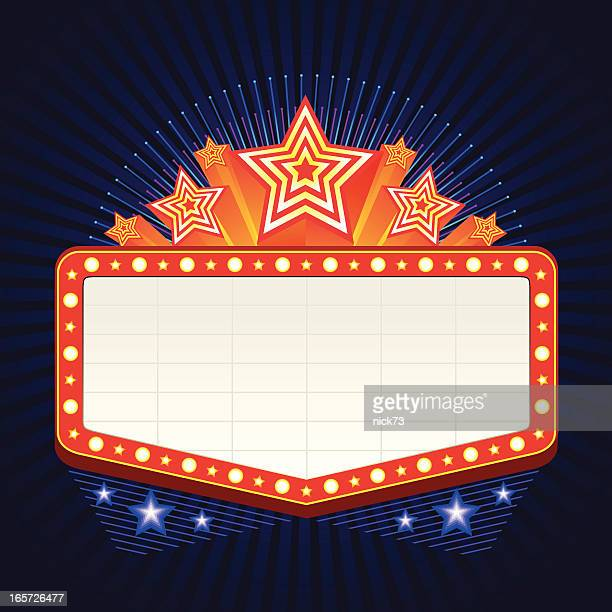 marquee banner - entrance sign stock illustrations
