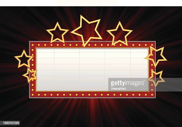 marquee banner - sign stock illustrations