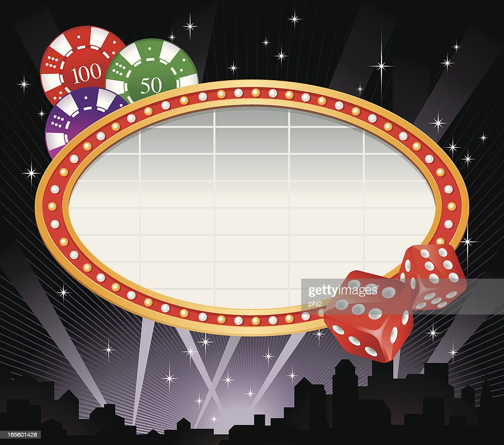 Marquee Frame Dice And Gaming Chips Vector Vector Art | Getty Images