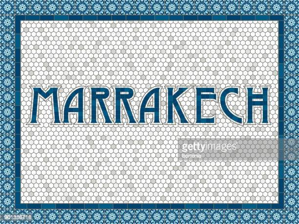 Marrakech Old Fashioned Mosaic Tile Typography