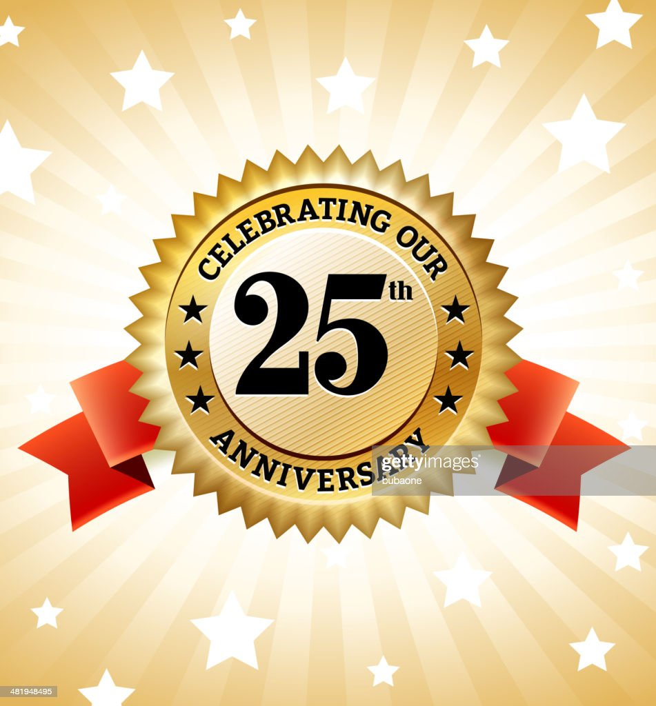 Marriage Anniversary Badges royalty free vector icon set : stock illustration