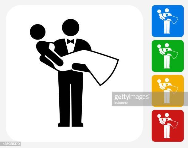 Marriage Icon Flat Graphic Design
