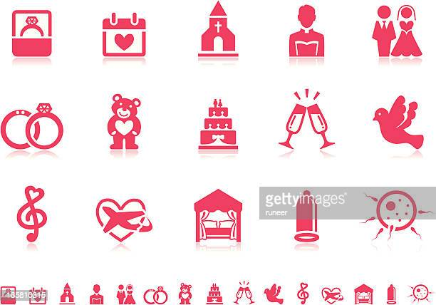 Marriage icons | Pictoria series