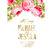 Marriage invitation card.