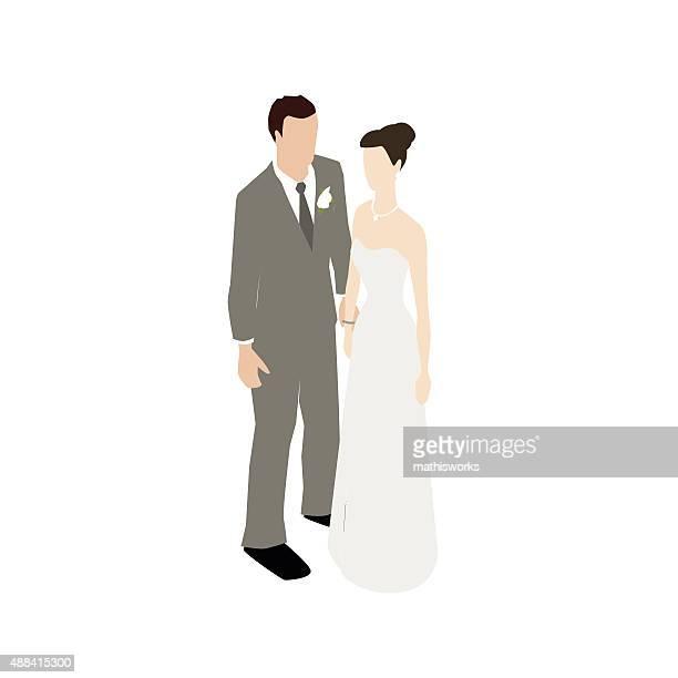 ilustrações de stock, clip art, desenhos animados e ícones de casado casal ilustração plana - mathisworks