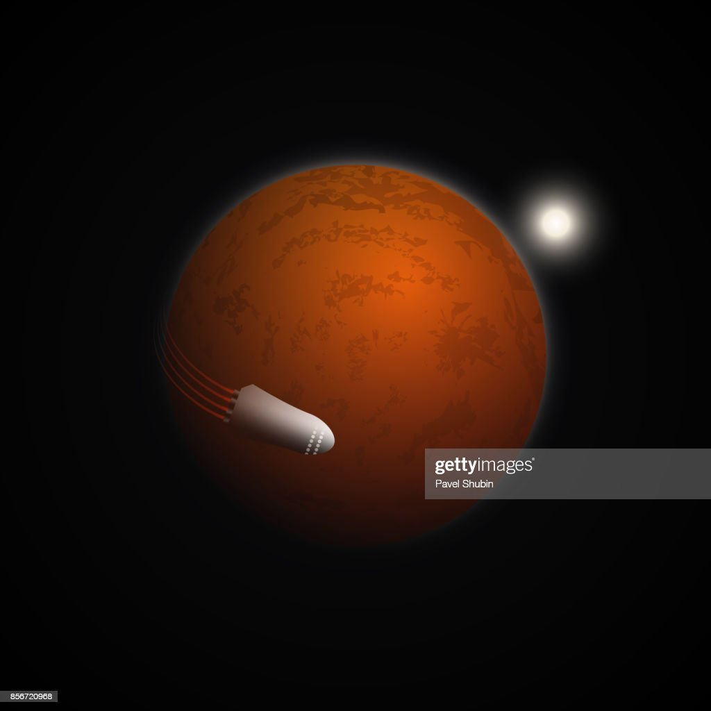 Mars colonization mission background.