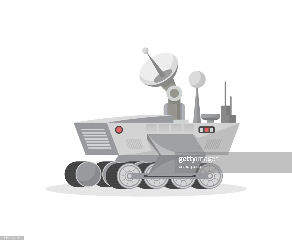 Mars science laboratory isolated vector icon