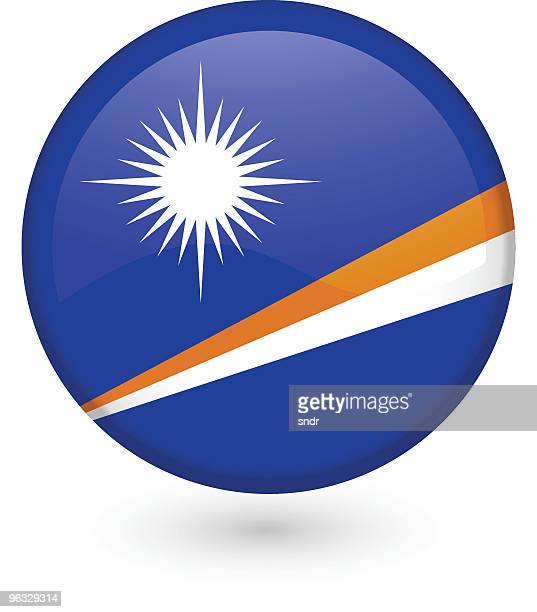 marshall islands flag button - marshall islands stock illustrations, clip art, cartoons, & icons