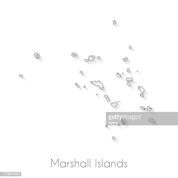 marshall islands map connection - network mesh on white background - marshall islands stock illustrations, clip art, cartoons, & icons