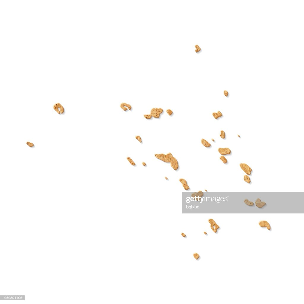 Marshall Islands map in cork board texture on white background : stock illustration